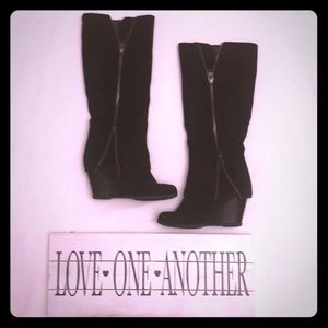 Wedge Heeled Boots in very good condition